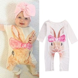 $enCountryForm.capitalKeyWord Australia - 2016 Autumn Newborn Infant Baby Girl Rabbit Pig Long Sleeve Romper Jumpsuit Outfits Sunsuit Baby Girl