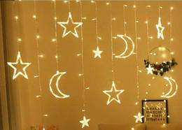 $enCountryForm.capitalKeyWord Australia - 3.5M Moon Star Led Curtain String Lights Christmas Fairy Garlands Holiday Lights For Wedding Party Decoration Xmas Christmas Garland Light