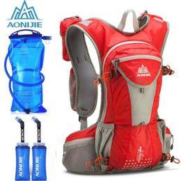 $enCountryForm.capitalKeyWord NZ - AONIJIE 12L Hydration Pack Backpack Rucksack Bag Vest Harness Water Bladder Hiking Camping Running Marathon Race Sports