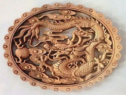 Chinese Carving Dragon Australia - Carving art! Chinese Handmade Dragon Sculpture with Camphor Wood Board Wall Sculpture