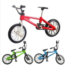 kids mini bicycle NZ - Wholesale creative simulation Mini alloy bicycle finger bicycle toy gift