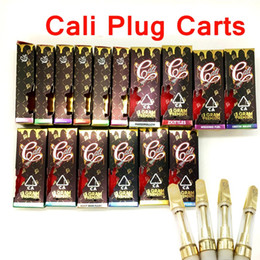Pack coils online shopping - Cali Plug Carts Ceramic Vape Cartridges Packing Box Caliplug Carts Ceramic Coils Thick Oil Gold Tip Atomizer Empty Glass Tank Vape Pens
