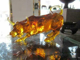 $enCountryForm.capitalKeyWord Australia - 8 inches CRYSTAL AMBER Wall Street Fierce Bull OX Statue