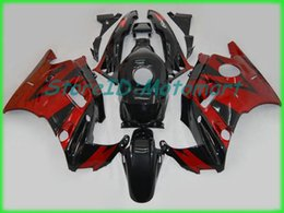 motorcycle fairings cbr f2 Australia - Motorcycle Fairing kit for HONDA CBR600F2 91 92 93 94 CBR 600 F2 1991 1994 ABS Red flames black Fairings set+gifts HF31