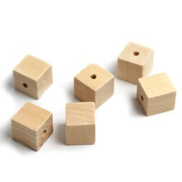 $enCountryForm.capitalKeyWord NZ - beads for jewelry making 20Pcs 19x20mm Nature charms Square Wooden Bead Wood Spacer Beads For Jewelry Making DIY