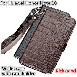 $enCountryForm.capitalKeyWord NZ - QX10 Crocodile Texture Gneuine Leather Wallet Case With Card Holders For Huawei Honor Note 10 Phone Case Fundas With Lanyard