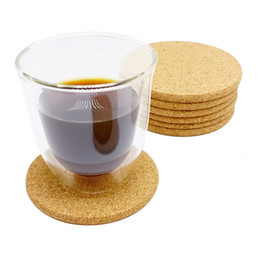 $enCountryForm.capitalKeyWord Australia - 500pcs 10cm Diameter 0.5cm Thickness Classic Round Plain Cork Coasters Heat-insulated Cup Mats for Wedding Party Gift