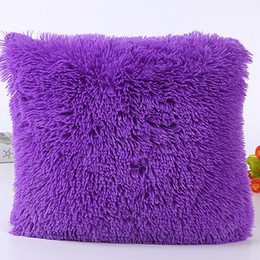 China Hot Popular Sea Lion Cashmere Pillowcase Short Plush Pillow Cover Square Plush Furry Pillowcase Cover Home Bed Room Decor cheap popular room decor suppliers