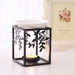 $enCountryForm.capitalKeyWord Australia - Art Iron Stand Ceramic Oil Burner Aromatherapy Furnace Essential Oil High Quality Aromatherapy Oil Lamp Gifts Crafts Home Decorations