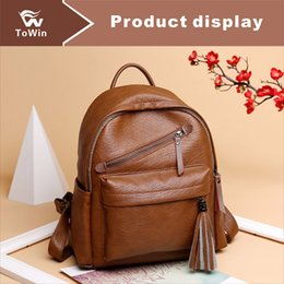 Shoulder Straps Backpack NZ - PU Leather High Quality Backpack 2019 Luxury Brand Women's Backpack Famous Shoulders Bag Designer Lady Bag Casual Two Straps Purse Wholesale