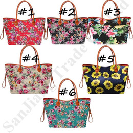 sunflower handbags Australia - Women Sunflower Designer Duffel Bags Tote Handbag Flower Printed Canvas Large Ladies Casual Waterproof Tote Purse Weekender Bag C82008