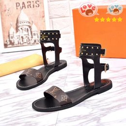 women cloth fashion NZ - French fashion Super luxury women sandals are made of vintage leather The Flat sandals female Women shoes With box mm1124 N13