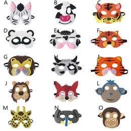 $enCountryForm.capitalKeyWord Australia - Kids Cute Animal Masks Monkey Panda Lion Cow Zabra Giraffe Children's Costume Party Masked Ball Performance Halloween Xmas Gifts B11