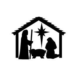 $enCountryForm.capitalKeyWord Canada - HotMeiNi Wholesale 20pcs lot 58cm x 54.13cm 2 x Nativity Christmas Graphical (one For Each Side) Car Sticker For Truck Window Auto9 Colors