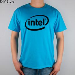 Intel s online shopping - Intel T shirt Top Lycra Cotton Men T shirt