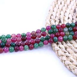 Tourmaline agaTe online shopping - Tourmaline Agate Beads Gemstone Natural Stone Bead inch strand per set For Jewelry Making Diy