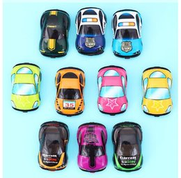 wholesale pull back toys Australia - Children's toy car Return Car Suit Chief Motorist of Puzzle Racing Q version minicar model Diecast Model Cars toys