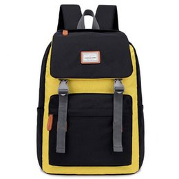 412f468a789 School Backpacks Stitching Backpack Men Women Couple Backpack College  Student Middle School Bags Laptop Bag Mochila