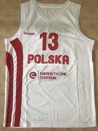 basketball jersey size 4xl NZ - #13 Marcin Gortat (Poland EuroBasket 2013) Basketball Jersey All Size Embroidery Stitched Customize any name and name XS-6XL vest Jerseys