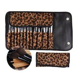 Cosmetic Pc Brush Set Bag NZ - makeup brushes set 12 PCS Pro Makeup Brush Set Cosmetic Tool Leopard Bag Beauty Brushes powder brush brochas pinceis hot