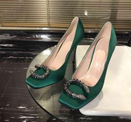 $enCountryForm.capitalKeyWord Australia - Ladies high Silk Cloth soft genuine leather Feminine and sexy Fashion beautiful Woman high heels elegant Fine heel 10cm high