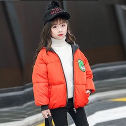 toddler boys cool fashion Australia - Toddler Baby Girls Boys Winter Cartoon Print Cute Coat Warm Jacket Hooded Windproof Coat Fashion Children Kids Cool 2019