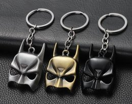 batman keychains NZ - Free shipping Top Quality The Dark Knight Mask face keyring very Key Holder Gifts batman keychain