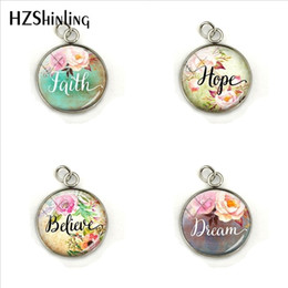Hope Faith Love Pendant Australia - 2019 Vintage Bible Verse Charms Faith,Dream,Love,Hope,Believe,Art Glass Dome Charms Pendants Quote Jewelry Christian Gifts