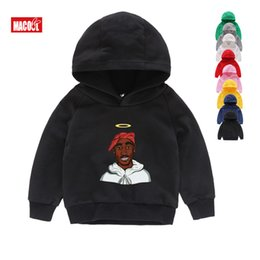 Discount 2pac hoodies - Boys Girls Sweatshirt Kids Tupac 2pac Hip Hop Swag Printed Hoodies Children Winter Long Sleeves Tops Baby Cotton Clothes