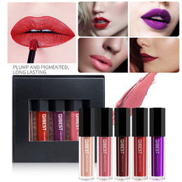 $enCountryForm.capitalKeyWord Australia - 5PCS New Fashion Lipstick Waterproof Liquid Matte Lipstick Cosmetic Sexy Lip Gloss Makeup Kit maquiagem profissional completa