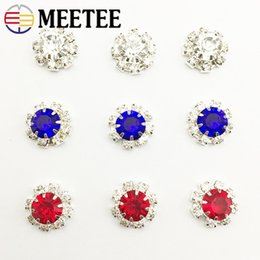 Clothes Buttons Australia - Meetee 30pcs 12mm Rhinestone Buttons DIY Headdress Jewelry Clothing Carfts Sewing Accessories Wedding Decorative Buckle CN009