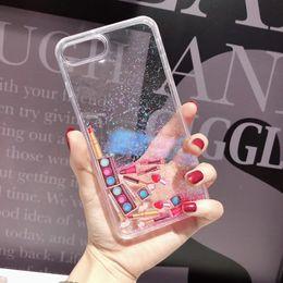 $enCountryForm.capitalKeyWord Australia - YunRT Fashion Liquid Quicksand Cosmetics Phone Case For iPhone 6 6s 7 8 Plus X XS MAX XR Lipstick Nail Polish dynamic Cover Fundas