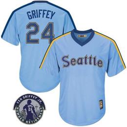 Jérseis de Seattle masculino Ken Griffey Jr. Remendo de aposentadoria Edgar Martinez Robinson Cano Randy Johnson Camisolas de beisebol Entrega gratuita Mariners venda por atacado