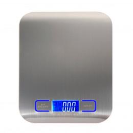 Опт Цифровые многофункциональные кухонные кухонные весы из нержавеющей стали 11 фунтов 5 кг с ЖК-дисплеем (серебро)