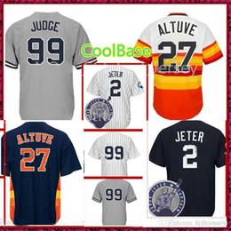 ad3e9c5baca Cheap Baseball Jerseys 99 Aaron Judge 2 Houston 27 Jose Altuve Baseball  Jersey Men's Cool Base Hot Sale Mix Order