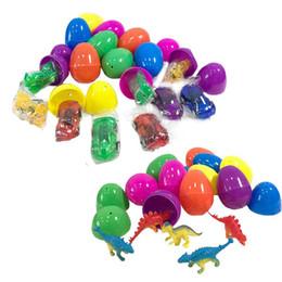 $enCountryForm.capitalKeyWord Australia - Mixed Color Plastic Hanging Easter Egg With Toys Inside Transparent Pullback Car Dinosaur Doll Innovative Children's Easter Part