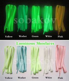 Wholesales Shoelace Charms Australia - 2019 Luminous Shoelaces For Kid's Casual Shoes Fluorescent Party Shoestring Novel Gift Glowing At Night