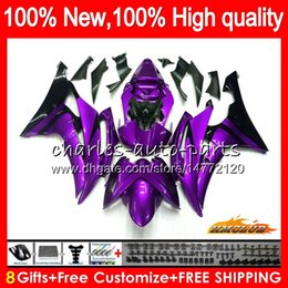 11 yamaha r6 fairings white Canada - Body For YAMAHA YZF600 YZF R6 YZF-R6 2008 2016 68HC.187 glossy purple YZF 600 R 6 CC 600CC YZF-600 YZFR6 08 09 10 11 12 13 14 15 16 Fairings