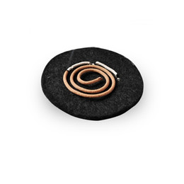 Fireproof Fabrics Wholesale Australia - Incense burner fireproof mat Censer insulation cotton Flame retardant Aluminized fiberglass fabric High temperature fabric Black silver
