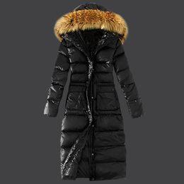 $enCountryForm.capitalKeyWord NZ - lady's body jacket, down coat, big hair collar, big size, down jacket, long cotton girl