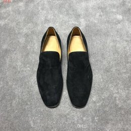 American Leather Shoes Australia - 2019 new European and american style business leather shoes ,new international brands Genuine leather flat men shoes