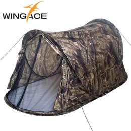 $enCountryForm.capitalKeyWord Australia - WINGACE Outdoor Camping Pop Up Tent Ultralight Portable Camouflage Automatic Single tent Hunting Fishing Beach Hiking Tents