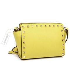 $enCountryForm.capitalKeyWord Australia - HOT shoulder bag brand The European and American popular messenger bag designer fashion rivet slanting classic best-selling female handbag