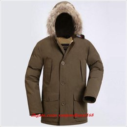 Warmest Goose Down Parka Australia - Latest Fashion Wool rich Men's Arctic Anorak Down jackets Man Winter goose down jacket 90% Outdoor Thick Parka Coat warm outwear