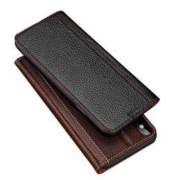 $enCountryForm.capitalKeyWord Australia - Ckhb Luxury Lichee Pattern Genuine Leather Case For Iphone 6 6s Plus 7 8 Plus Folio Flip Case Cover Card Holder Smart Cover Case T190701