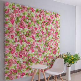 $enCountryForm.capitalKeyWord Australia - Free Shipping Artificial Hydrangeas Rose Flower Wall for Wedding Decoration Flower Panels Baby Shower Xmas Backdrop Decor