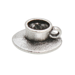 $enCountryForm.capitalKeyWord Australia - Wholesale Antique Silver Plated Alloy Coffee Cup Charms Tableware Jewelry Making Charms 8*11mm 100pcs AAC532