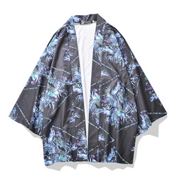$enCountryForm.capitalKeyWord NZ - Printing Oversized Shirt Men 2019 Summer Street Three Quarter Sleeve Men's Shirt Man Kimono 2colors