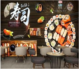 chinese restaurant decor NZ - WDBH 3d wallpaper custom photo Japanese food sushi restaurant catering tooling home decor 3d wall murals wallpaper for walls 3 d living room