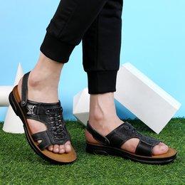 $enCountryForm.capitalKeyWord Australia - 2019 Mens Shoes Summer sandal outdoor breathable Mens genuine Leather Sandal Beach Slippers Sandalias Hombre Sandale Homme l5